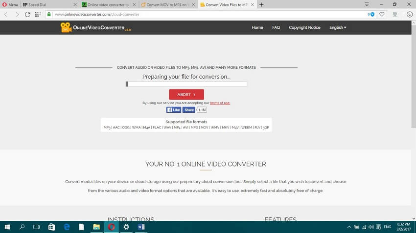 Online MOV to MP4 Converter