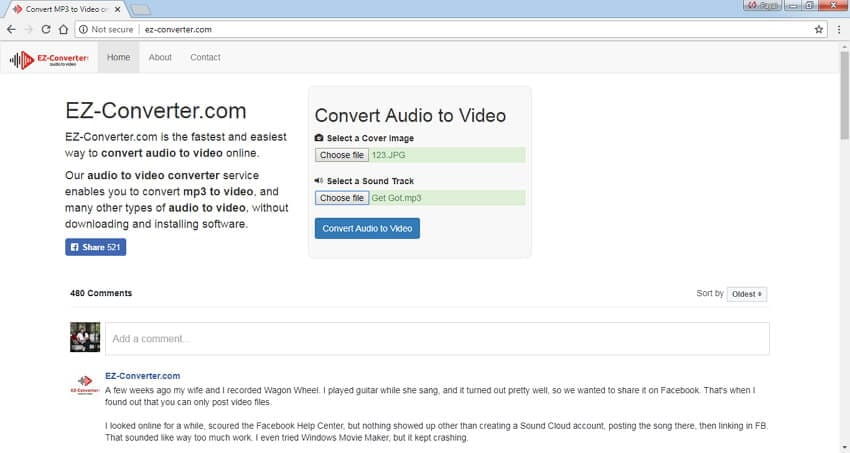 convert mp3 to mp4 with image EZ-Converter