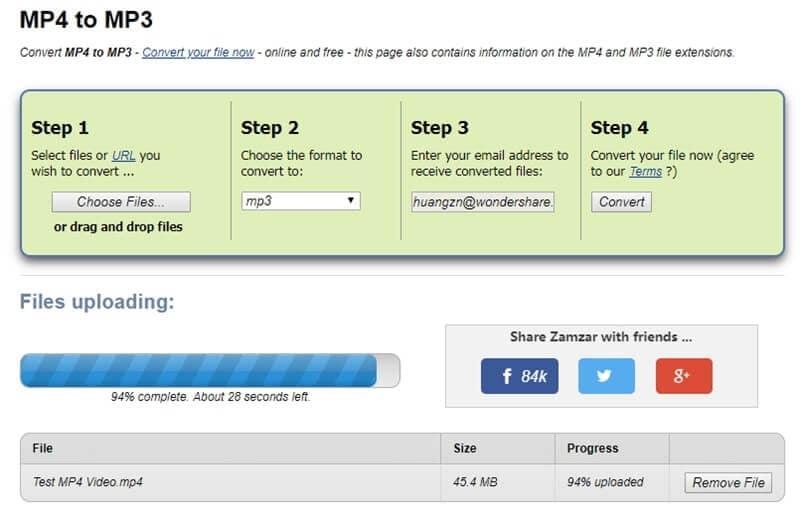 online mp4 to mp3 converter zamzar
