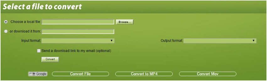 Convertfiles Video Converter - free AVI to MP4 converter