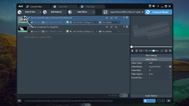 best free mp4 to avi converter Anyvideo converter