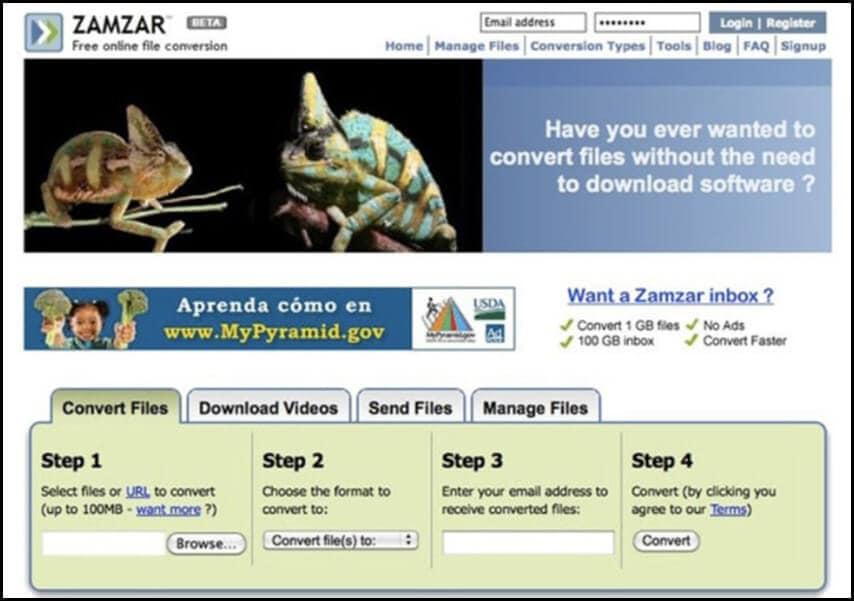 GIF to MP4 Online Zamzar