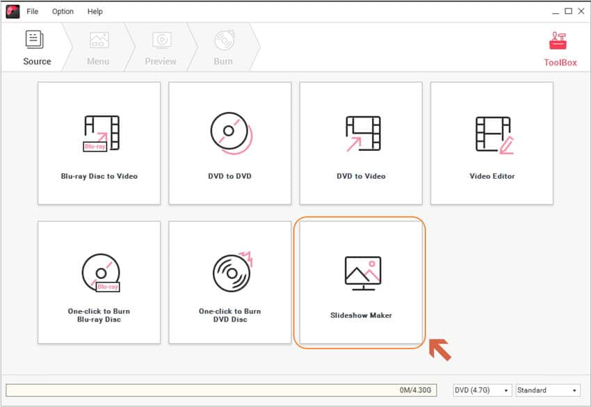 打開JPG 轉 MP4 轉檔工具
