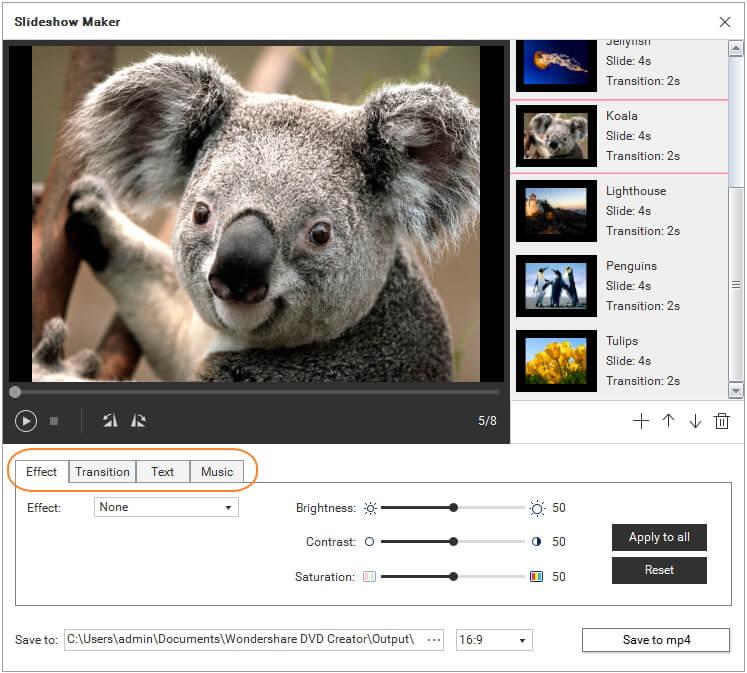 在 PNG 轉成 MP4 之前編輯圖片與應用特效