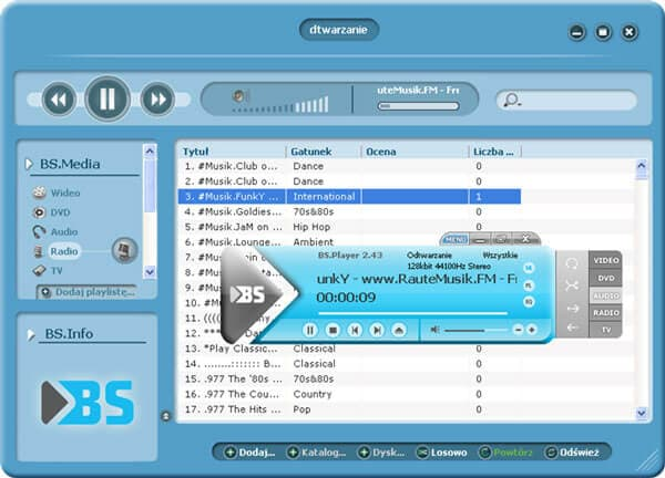 Windows media player mp4 BS player