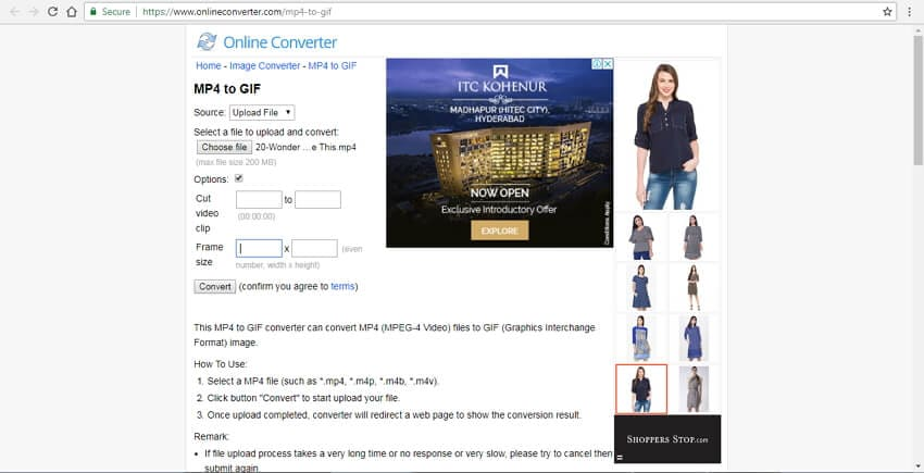 MP4 to GIF with Online Converter