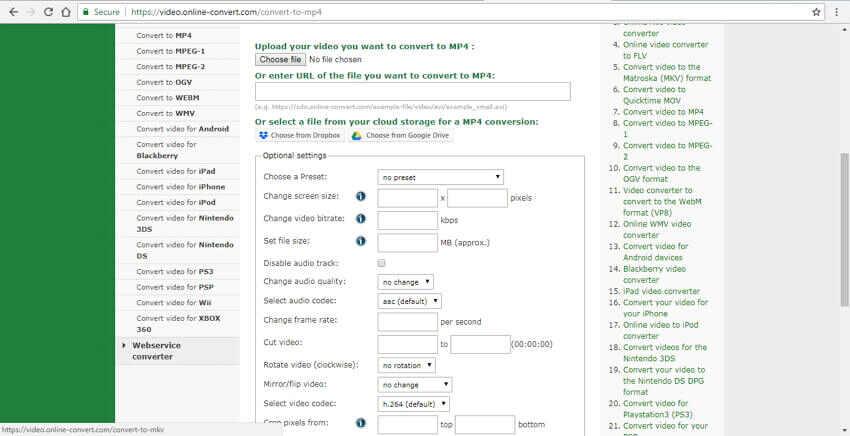 url to mp4 converter Online Convert