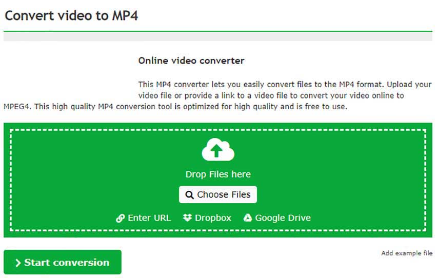 Online Convert for DAT files to MP4