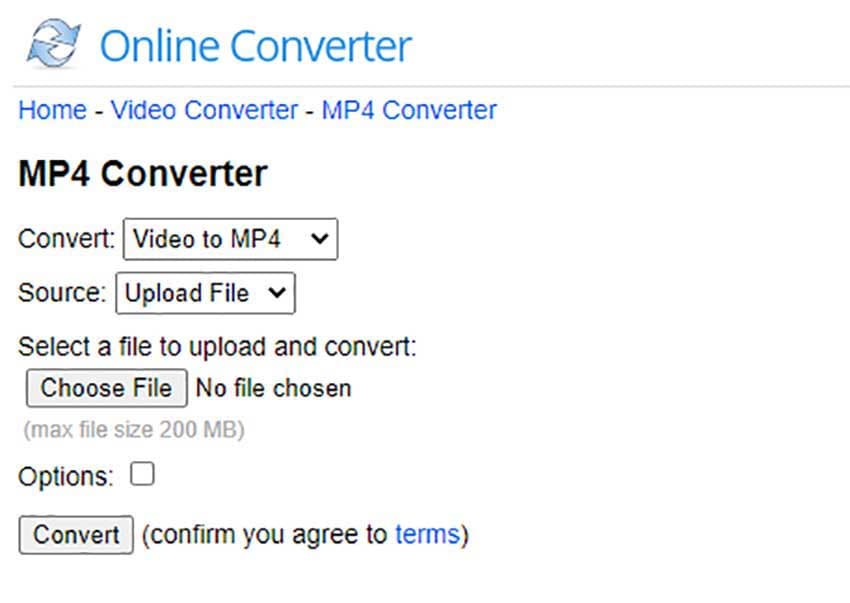 Online Converter to convert DAT to MP4 files