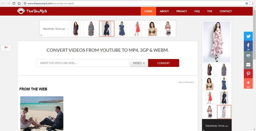 YouTube to MP4 converter TheYouMP3