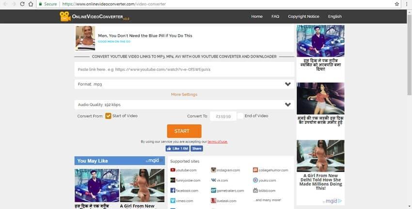 YouTube to MP4 converter Online video converter
