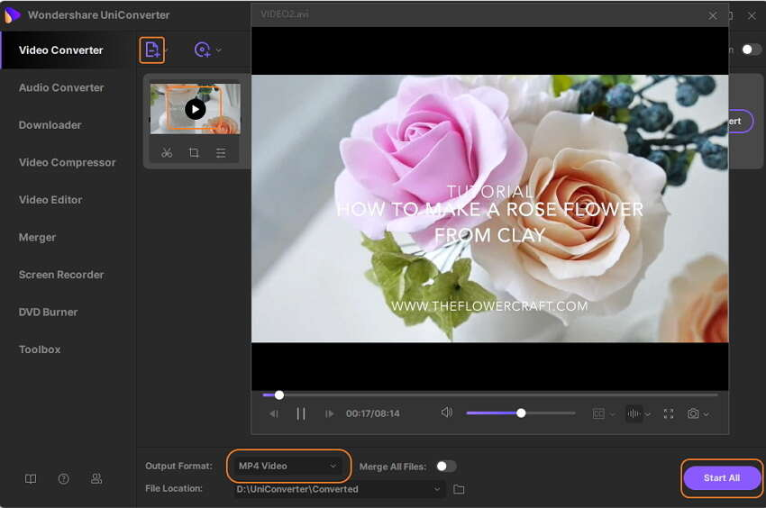 play mkv with wondershare video player