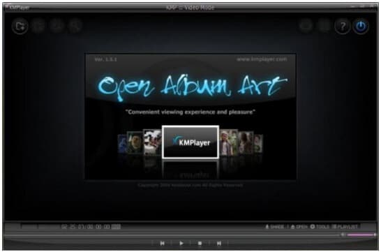 free alternative to Windows Media Player - KMPlayer
