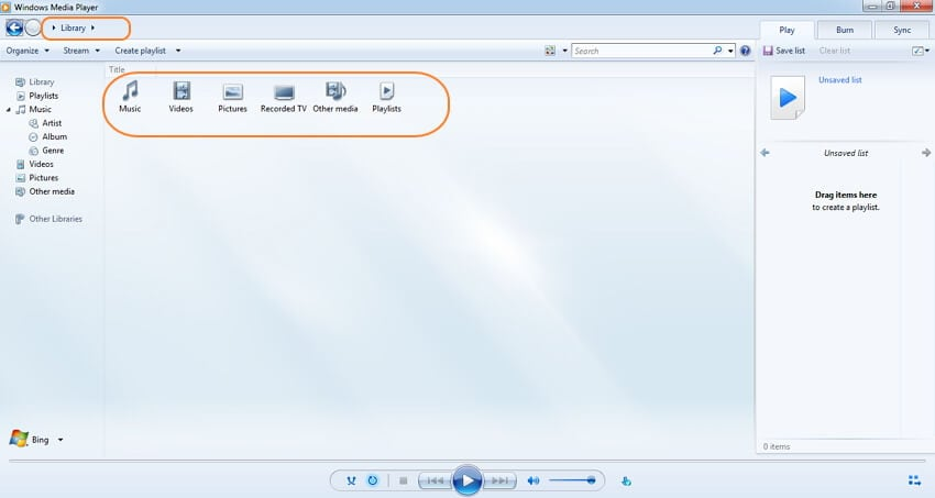 use Windows Media Player