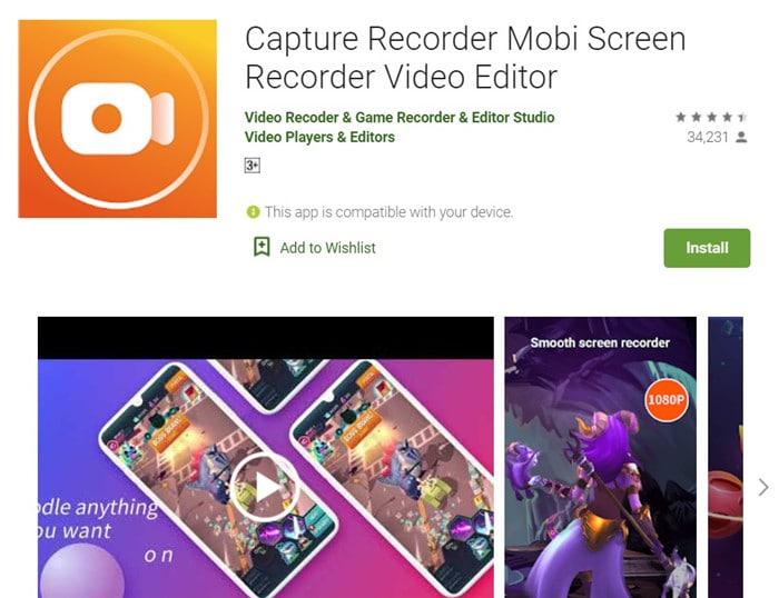 Capture Recorder Mobi Screen Recorder
