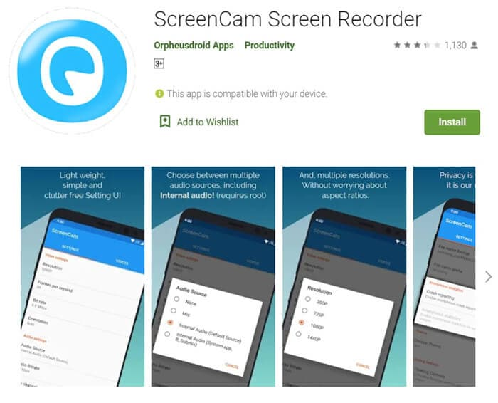 ScreenCam screen recorder