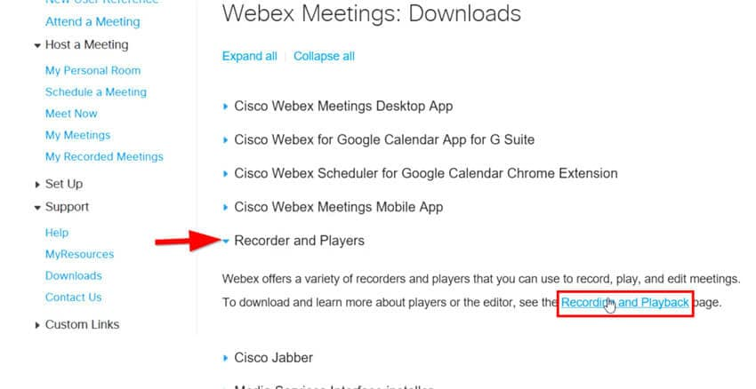 download Webex Meeting