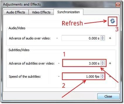 Choose synchronization tab