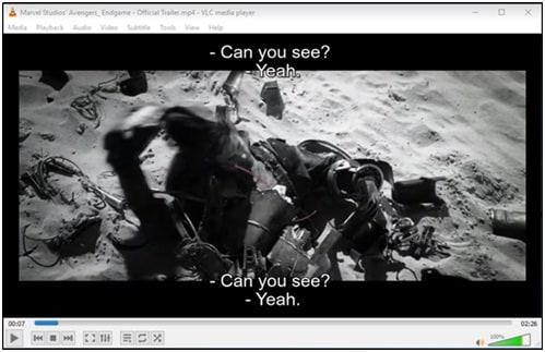 Open dual subtitle vlc