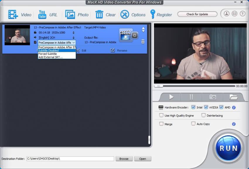 MacX Video Converter disables captions