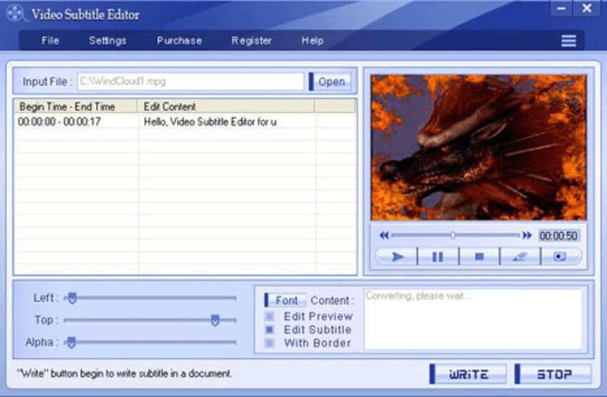 video subtitle editor
