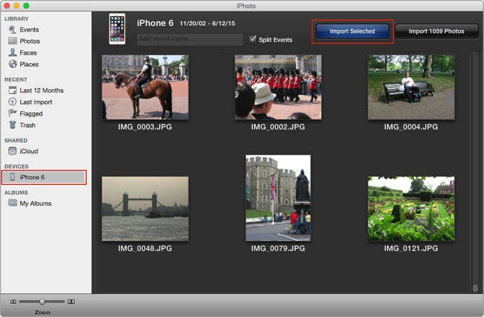 connect to iPhoto