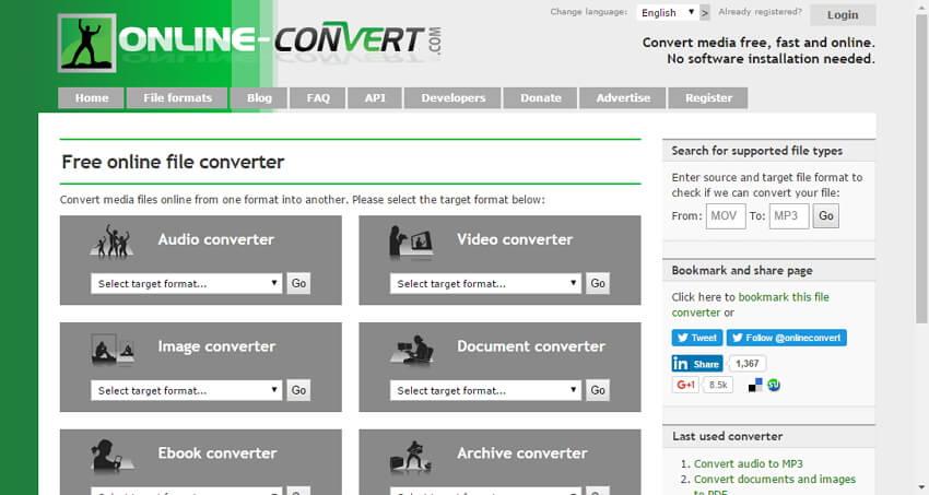 Convert AVCHD to MP4 Mac online
