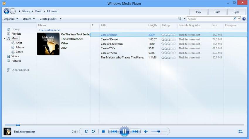 window media player - AVCHD Player