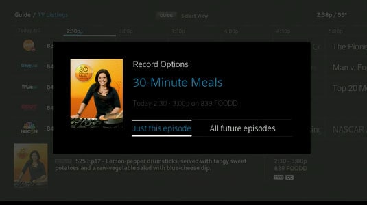 record option from Xfinity