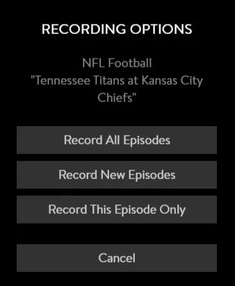 record options