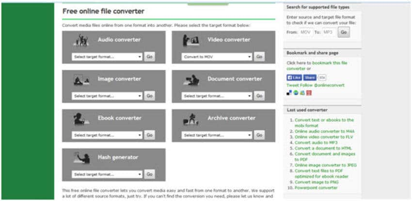 open mts mov online converter