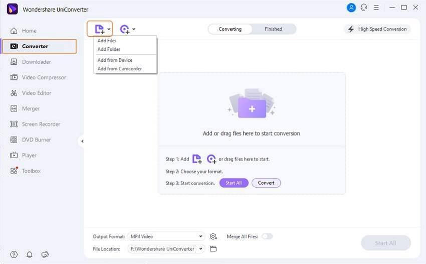 Cargar el archivo MP4 sin sonido