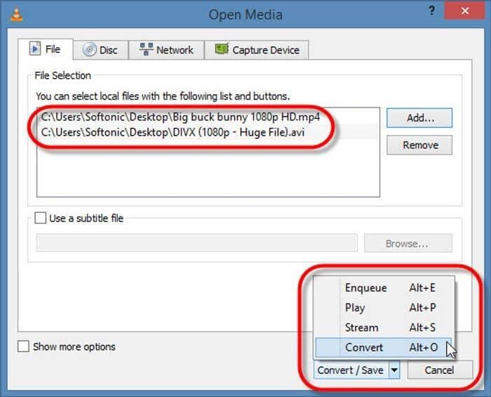 select VOB files for MP4 conversion