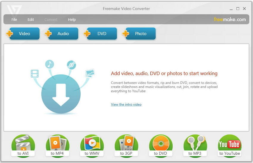 Free MP4 to AVI converter Freemake