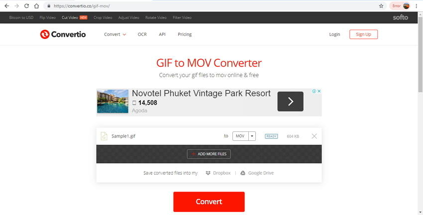 convert gif to mov online - 2