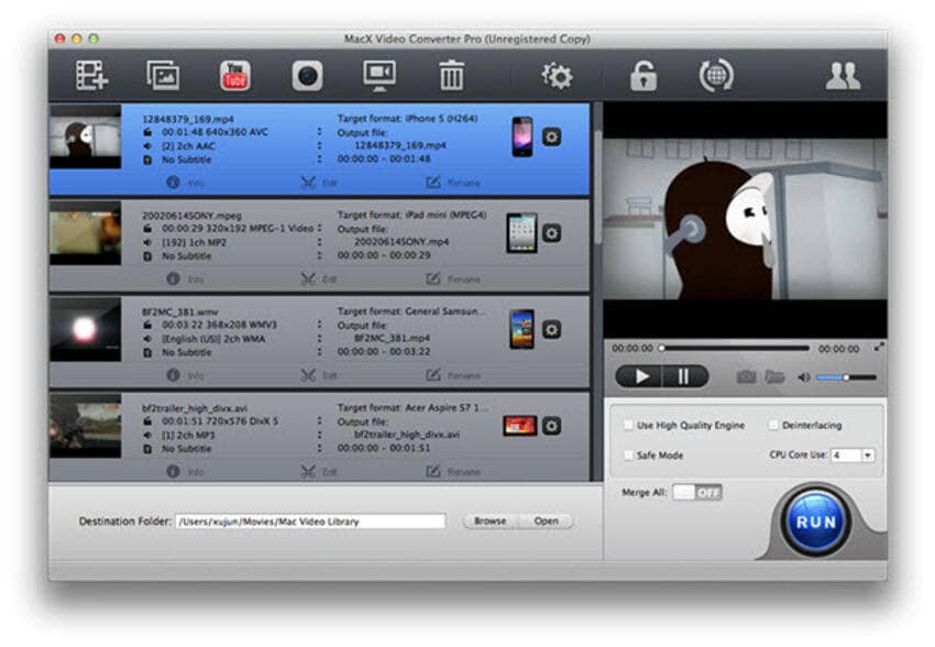 YouTube to MP4 Converters for Mac Mac X Video Converter