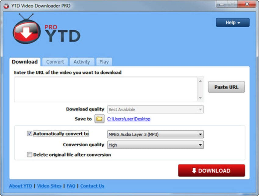 YouTube to MP4 Converter on Windows YouTube Downloader