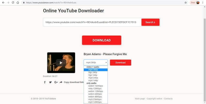 YouTube playlist downloader online - You TubNow