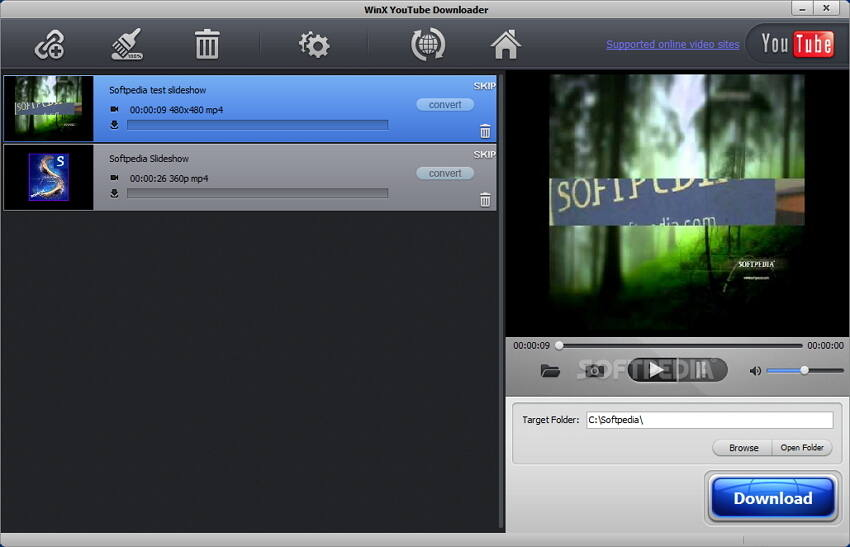 Winx free YouTube MP4 converter
