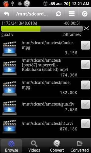 video converter for Android - 3