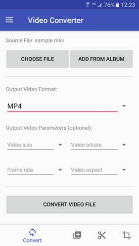 video converter for Android - 4
