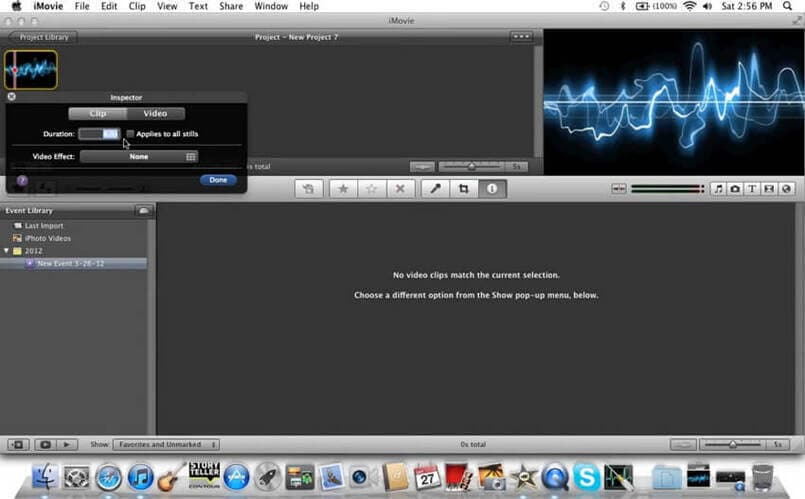 convert MP3 to video with iMovie -2