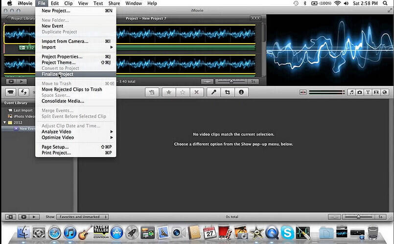 convert MP3 to video with iMovie -5