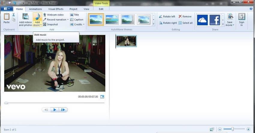 convert MP3 with Windows Movie Maker - 2