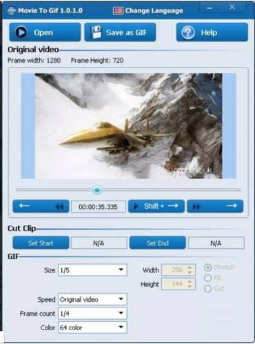 free video to GIF converter - Movie to GIF
