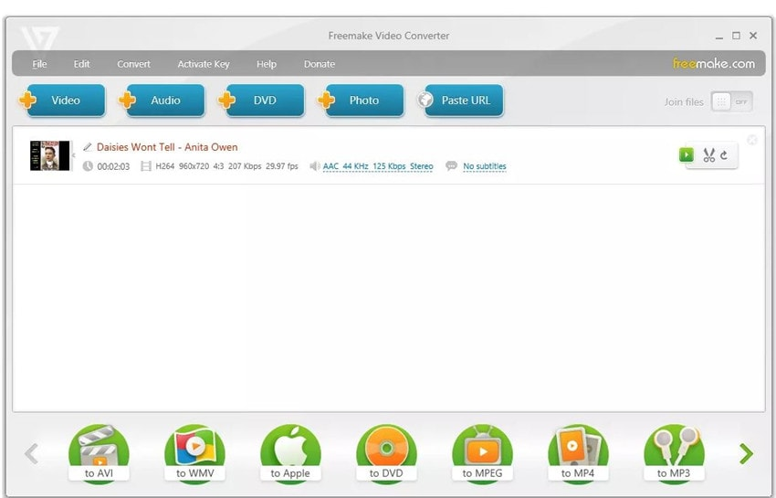 Freemake Free Video Converter to Audio