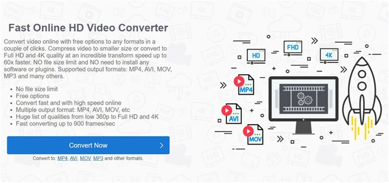 HDconvert converts videos from 1080p to 720p online