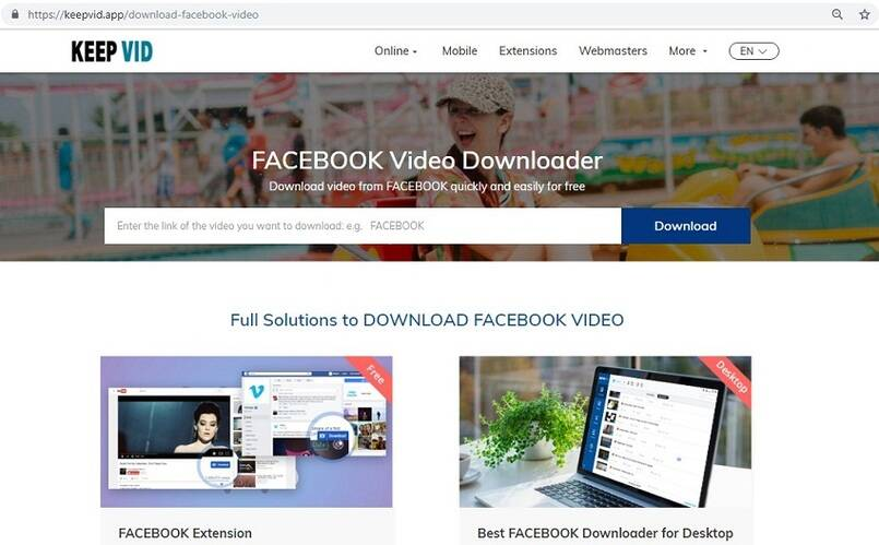 online facebook video converter 1