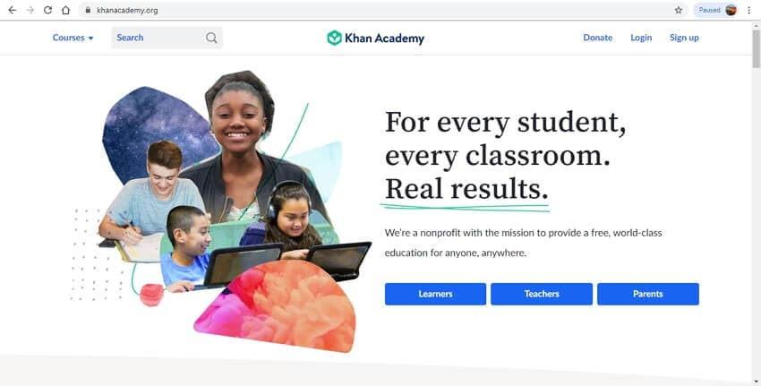 best online learning sites - KhanAcademy