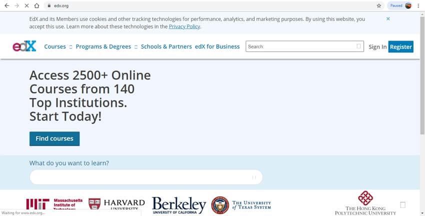 best online learning sites - edX